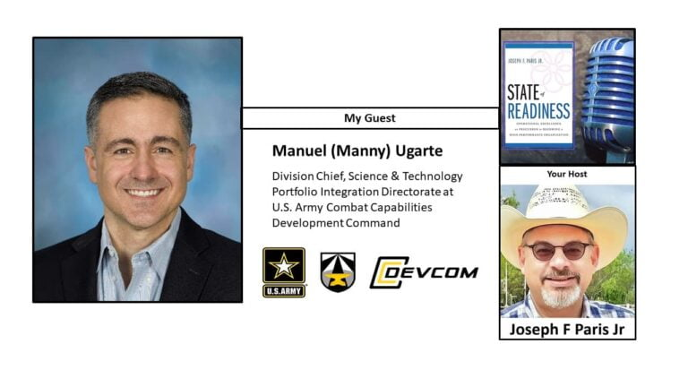 Manuel Ugarte; Director and Strategic Accounts Manager of the United States Army's Combat Capabilities Development Command (CCDC)