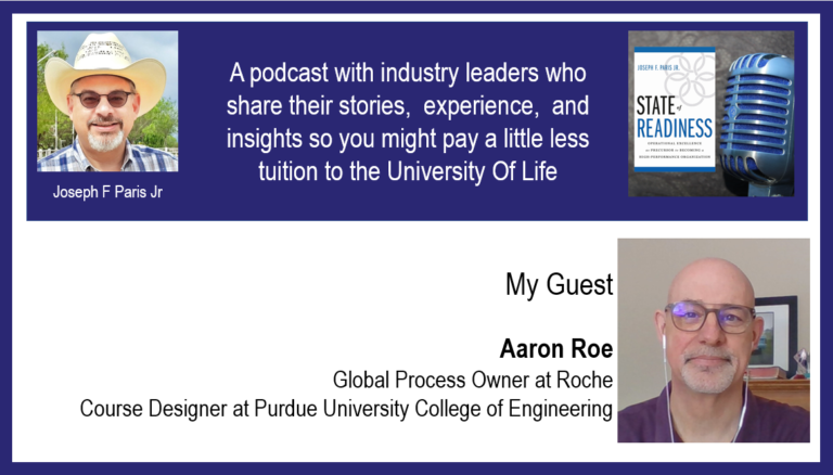 Aaron Roe; Global Process Owner at Roche