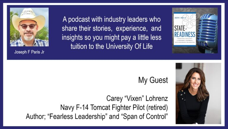 "Carey ""Vixen"" Lohrenz; US Navy F-14 Fighter Pilot, Entrepreneur, Speaker, and Author"